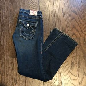 True Religion Low Rise Flare Jeans